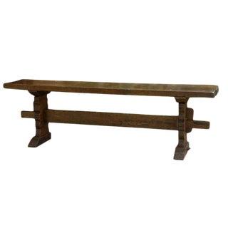 Long Narrow Trestle Table