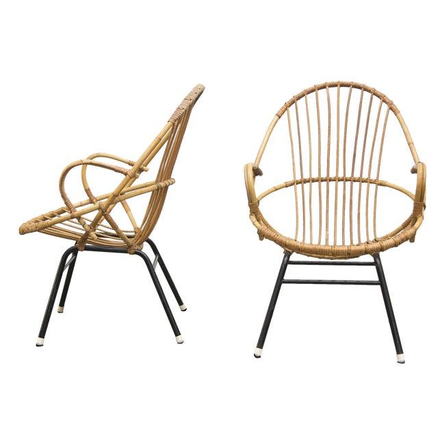 Rohe Noordwolde Bamboo Hoop Chairs - Pair - Image 1 of 8