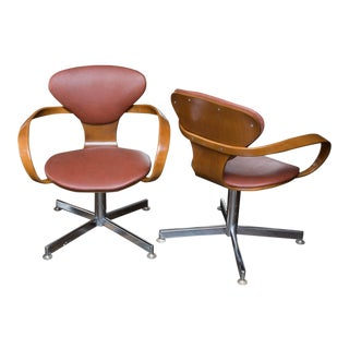 Norman Cherner Style Pretzel Chairs - A Pair