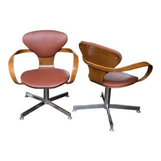 Norman Cherner Style Pretzel Chairs - A Pair