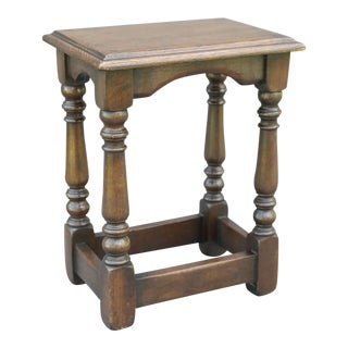 Antique Oak Joint Stool