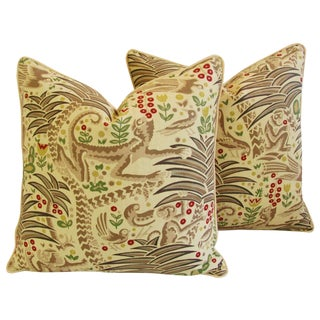 Clarence House Fabric Pillows - A Pair