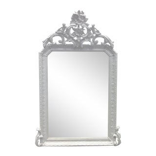 French Late 19th Century Louis XVI Wall Mirror