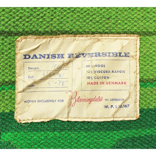 "Mid-Century Danish Reversible Rug - 5' X 7'5"" - Image 4 of 4"