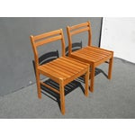 Danish Modern Scanteak Outdoor Chairs Set Of 6 Chairish