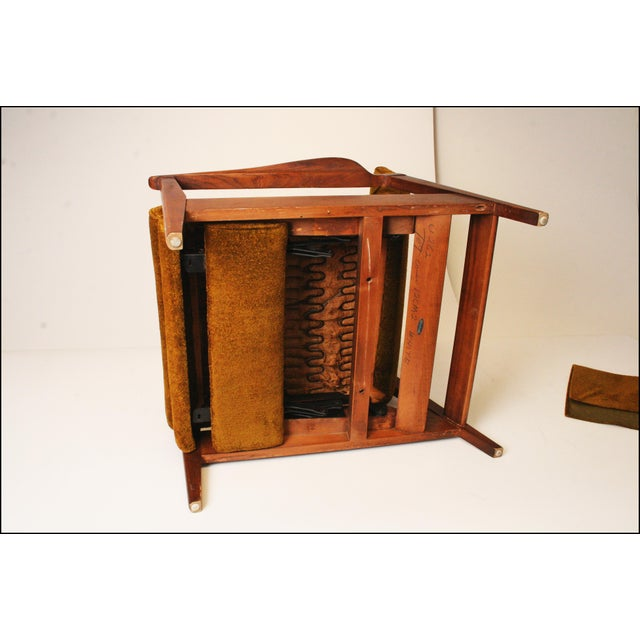 Danish Modern Green Upholstered Recliner Chair