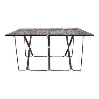 Vintage Industrial Metal Side / End Table Base - Mid-Century Modern