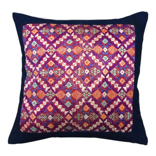 Embroidered Vintage Tribal Fabric Pillow