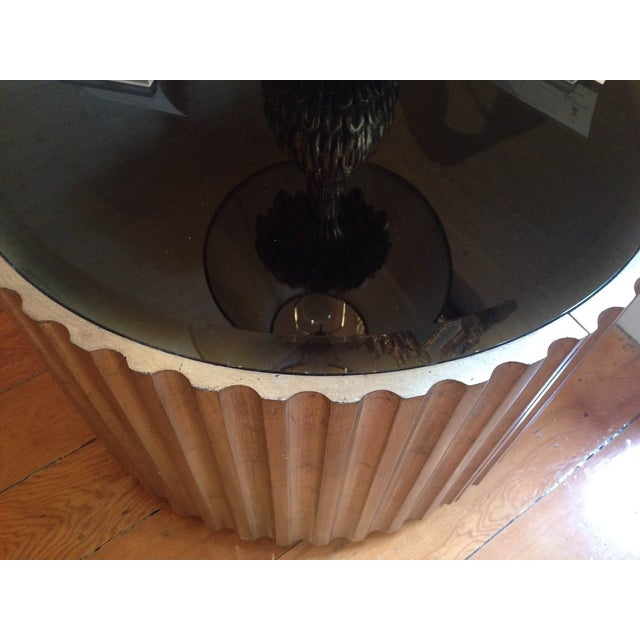 Image of Mid 20th Century Hand Carved Circular Low Table