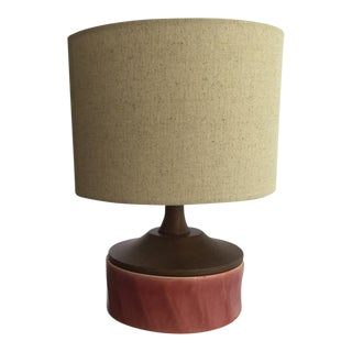 Small Mid-Century Organic Modern Ceramic Table Lamp