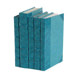Patent Leather Teal Books - Set of 5