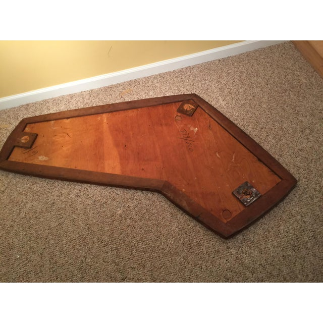Mid Century Tile Top Coffee Table: Mid-Century Gold Tile Boomerang Coffee Table Top