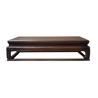 Simple Oriental Carved Legs Rectangular Display Table Stand cs2624