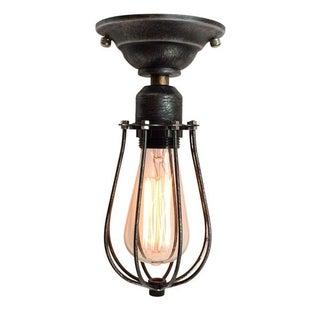 Vintage Industrial Black Cage Ceiling Lamp