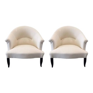 Pair of French Country Slipper Chairs