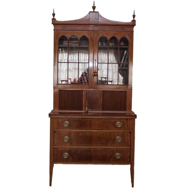 Antique Federal Style Mahogany Secretary Desk - Image 1 of 10