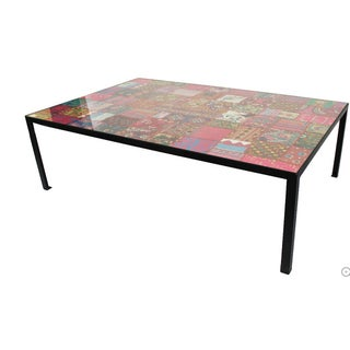 Vintage Indian Patchwork Table