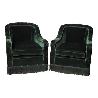 Hollywood Regency Club Chairs - A Pair