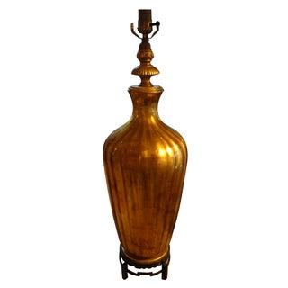 Hollywood Regency Italian Glass Table Lamp