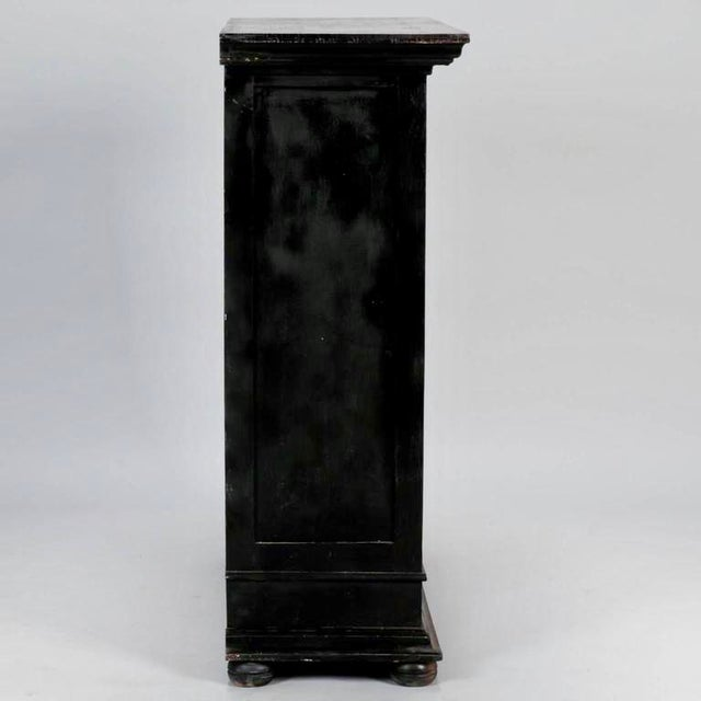 Late 19th Century Antique French Ebonized Oak Linen Chest - Image 8 of 8