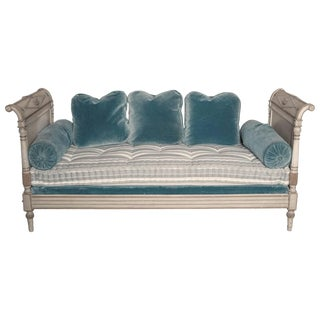 19th Century Painted Directoire Style Daybed with Neoclassical Urn Carving