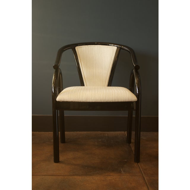 Chinoiserie Black Lacquer Armchair - Image 3 of 6