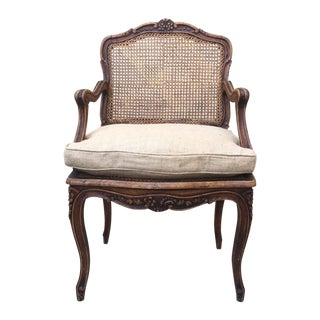 French Louis XV-Style Cane Armchair