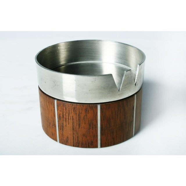Walnut and Pewter Ashtray by Paul Evans - Image 4 of 7