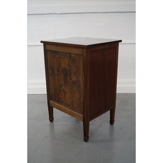 Image of Antique Mahogany Regency Style 3 Drawer Nightstand