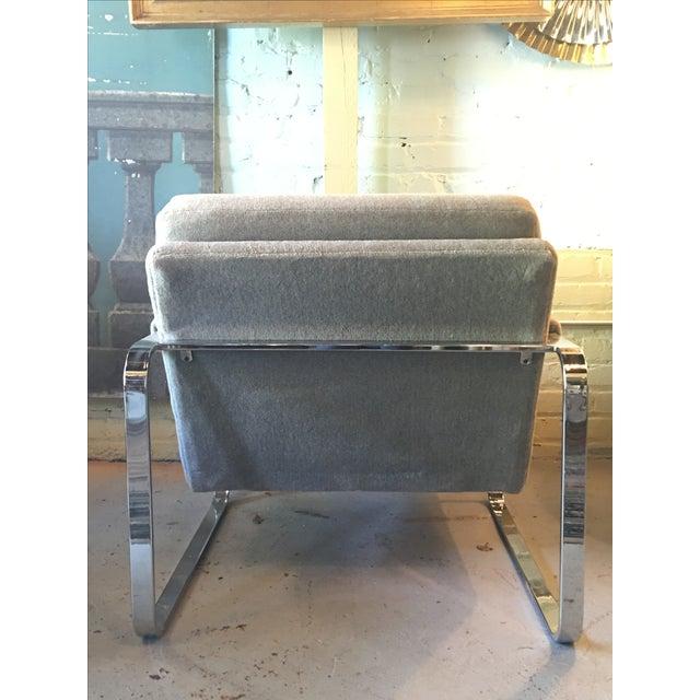 Milo Baughman-Style Chrome Chair - Image 4 of 4