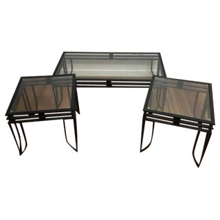 Modern Industrial Coffee Table & 2 End Tables