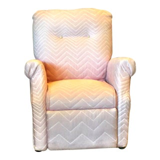 Pink Quilted Fabric Upholstered Child's Chair