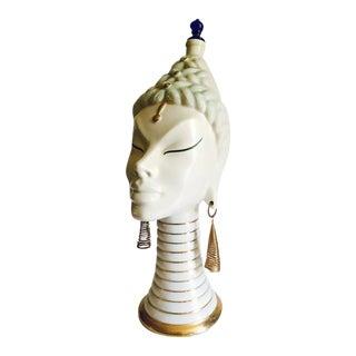 Mid-Century Thailand Princess Bottle Statue