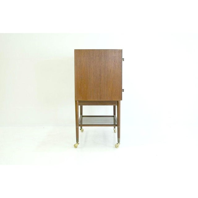 Image of Mid-Century Modern Danish Teak Bar Cabinet