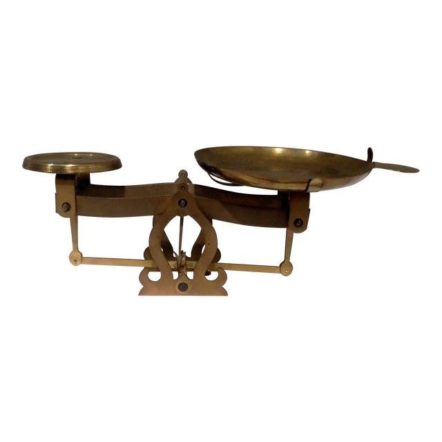 Antique Brass Pharmacy Scale - Image 3 of 9