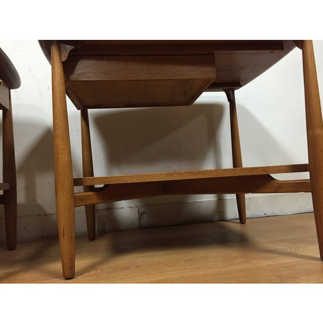 Bleached Walnut End Tables - A Pair - Image 5 of 5