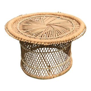 Mid-Century Wicker Stool