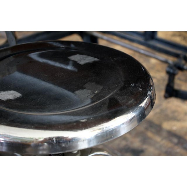 Industrial Adjustable Height Polished Stool - Image 2 of 4