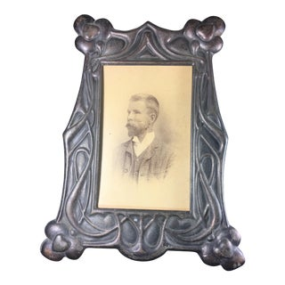 Art Nouveau Samtico Metal Works Picture Frame