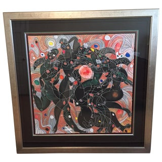Playing Water Framed Serigraph