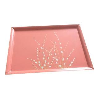 Florence Thomas Floral Pink Metal Serving Tray
