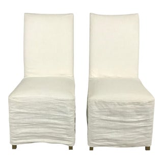 Slipcover Dining Chairs - A Pair