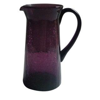 Vintage Royal Purple Glass Pitcher