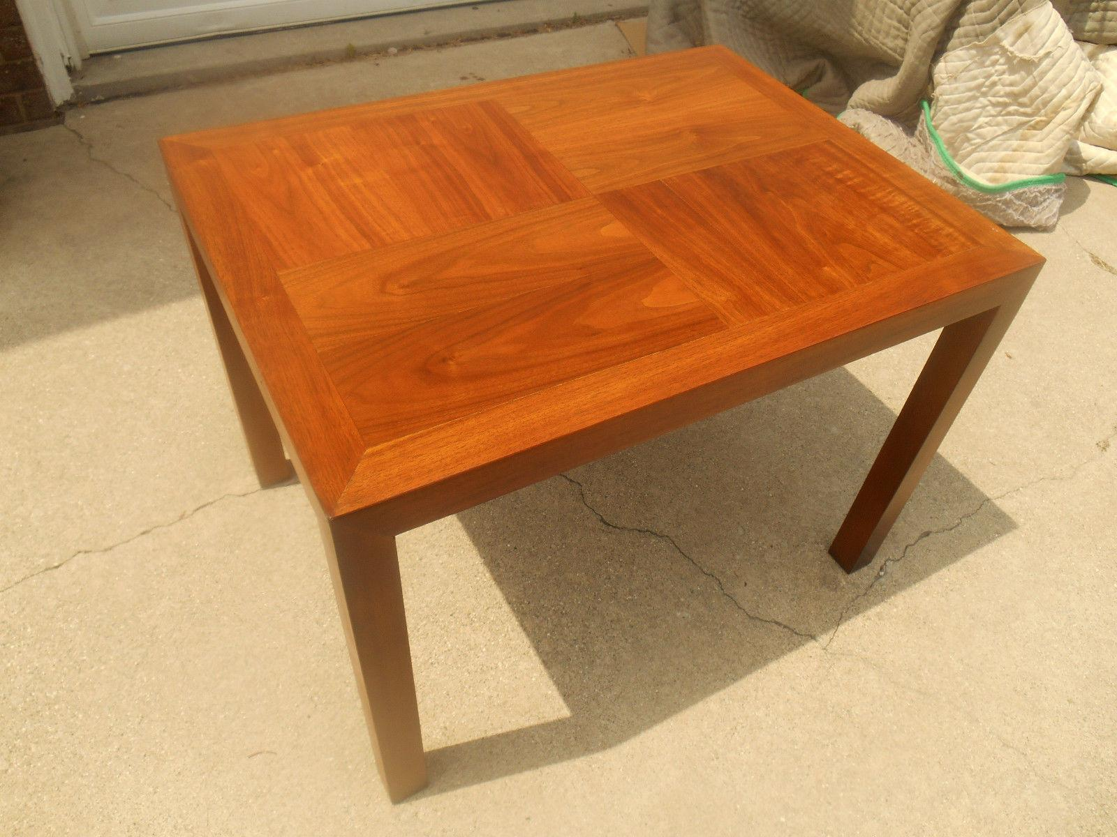 Lane Mid Century Parquet Side Table   Image 5 Of 6