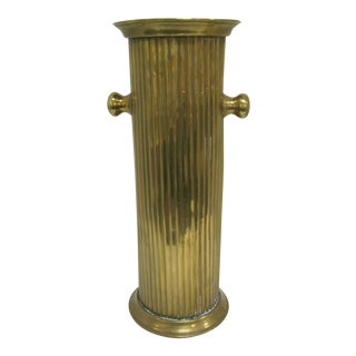 Antique English Brass Umbrella Stand