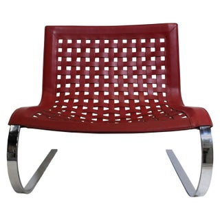 O'Mies Red Leather & Chrome Lounger