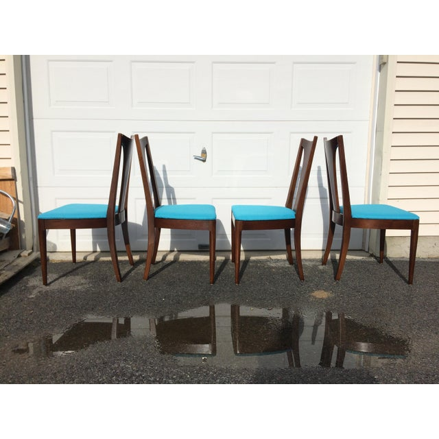 Broyhill Restored Walnut Chairs - Set of 4 - Image 5 of 8