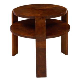Art Deco French Walnut Gueridon