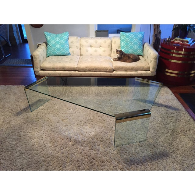 Leon Rosen Pace Collection Glass Coffee Table - Image 3 of 8