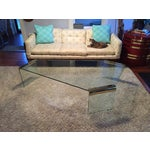 Image of Leon Rosen Pace Collection Glass Coffee Table